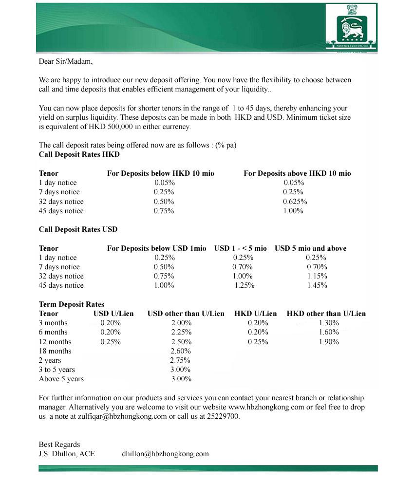 Habib Bank Zurich Hong Kong Limited